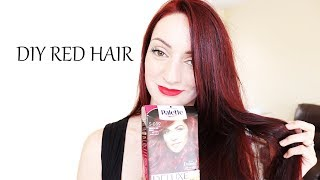 How I Color My Hair At Home (Dark Red) | Schwarzkopf Palette Deluxe