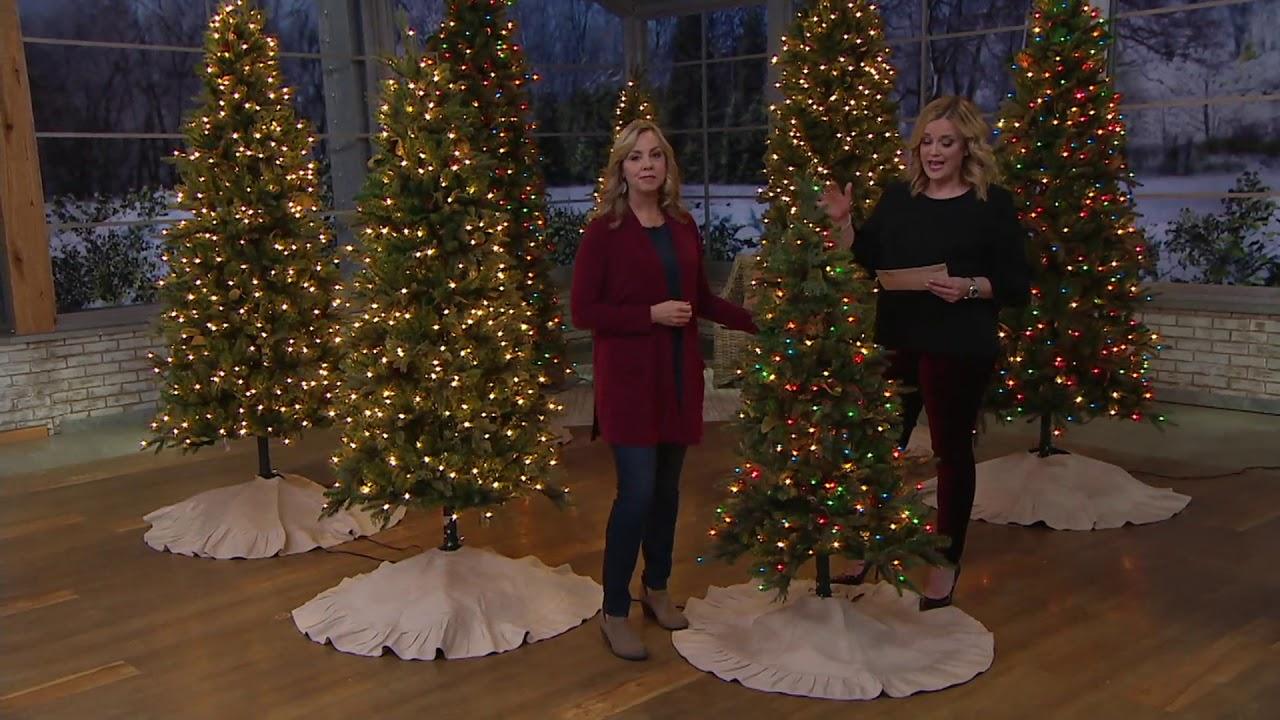 Bethlehem Lights Prelit Sitka Spruce Christmas Tree on QVC ...