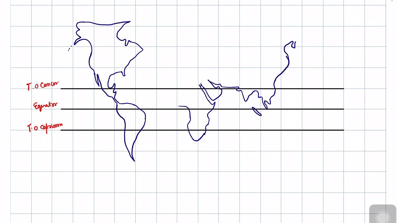 Draw The World Map Step By Step Process Explained Youtube