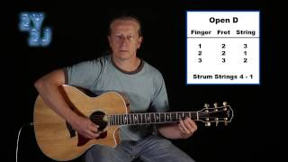 Open D Chord Text - Guitar Lesson