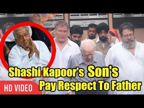 Shashi Kapoor's Son  Karan And Kunal Kapoor | Shashi Kapoor Funeral
