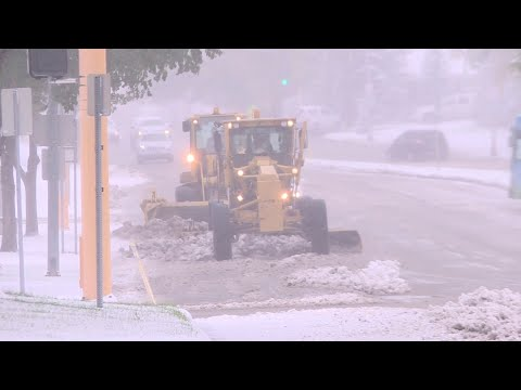 October Snow Hits Bismarck