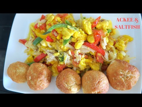 HOW TO MAKE ACKEE AND SALT FISH ( JAMAICA'S NATIONAL DISH)