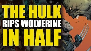 The Incredible Hulk Rips Wolverine In Half (Ultimate Wolverine vs Hulk Vol 1)