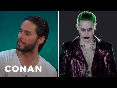 Jared Leto Tested Out A Few Different Joker Laughs  - CONAN