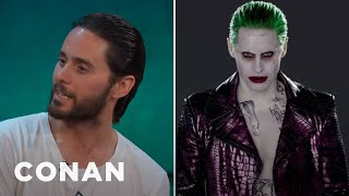 jared leto tested out a few different joker laughs conan on tbs