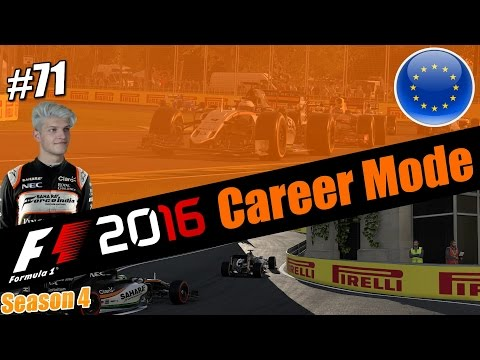 F1 2016 CAREER MODE PART 71 l GETTING SQUEEZED AT 240MPH!!! (Azerbaijan)
