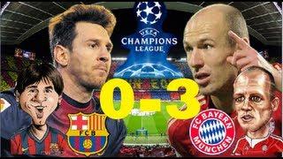 0-1 gol de robben, 0-2 autogol pique, 0-3 muller, barcelona vs bayern munich 01/05/13 01/05/2013 mun...