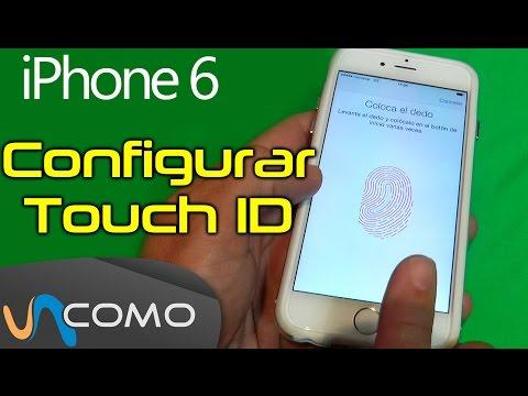 Configurar huella digital en iPhone 6