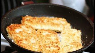 Рыбное филе в сухарях и яйце
