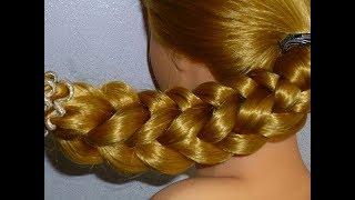 ЛЁГКАЯ Прическа в школу коса самой себе для средних/длинных волос на каждый день на работу