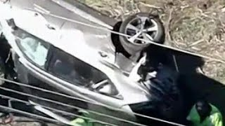Tiger Woods injured in scary car accident