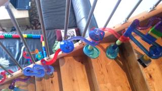 marble run down the stairs