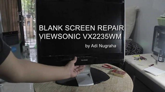 Viewsonic Lcd Wont Start Repair Blank Screen Fix Solved Vx2235wm Youtube