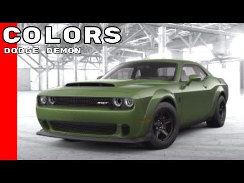 Dodge Demon Colors >> Dodge Challenger Srt Demon Colors Youtube