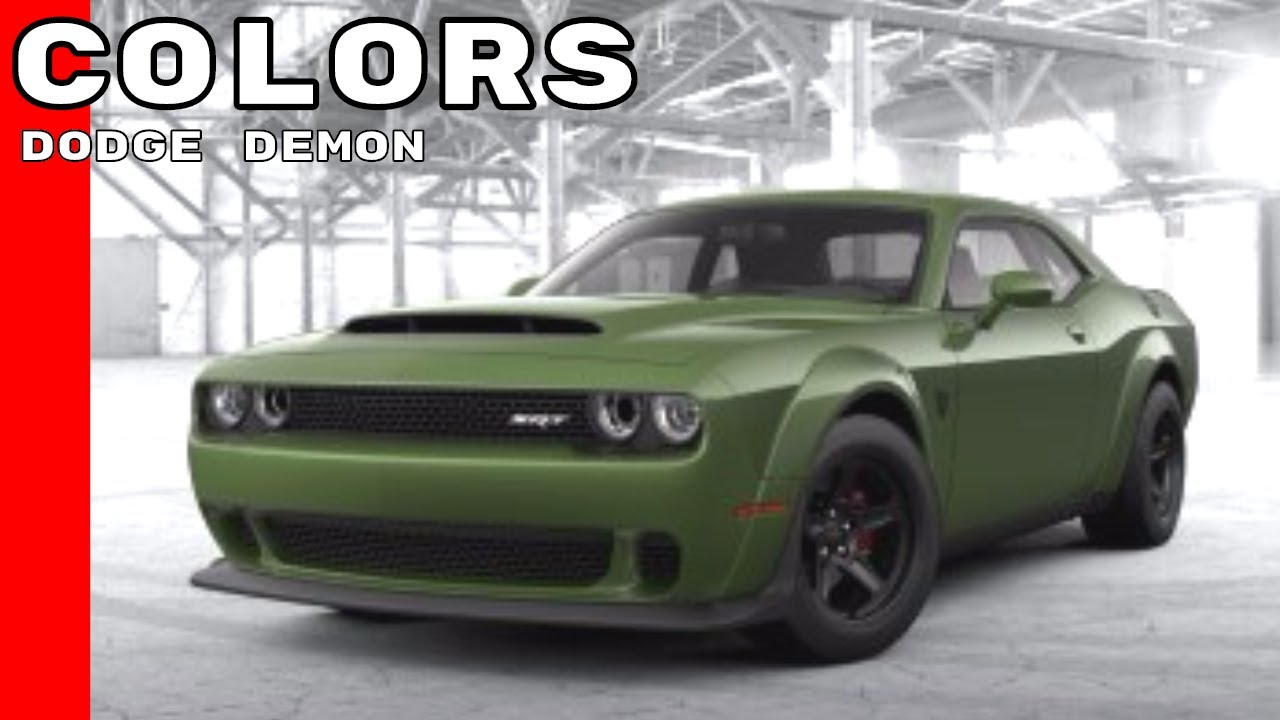 Dodge Challenger Srt Demon Colors