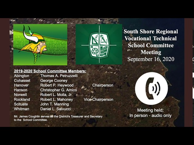 SSVT School Committee; Sept. 16, 2020