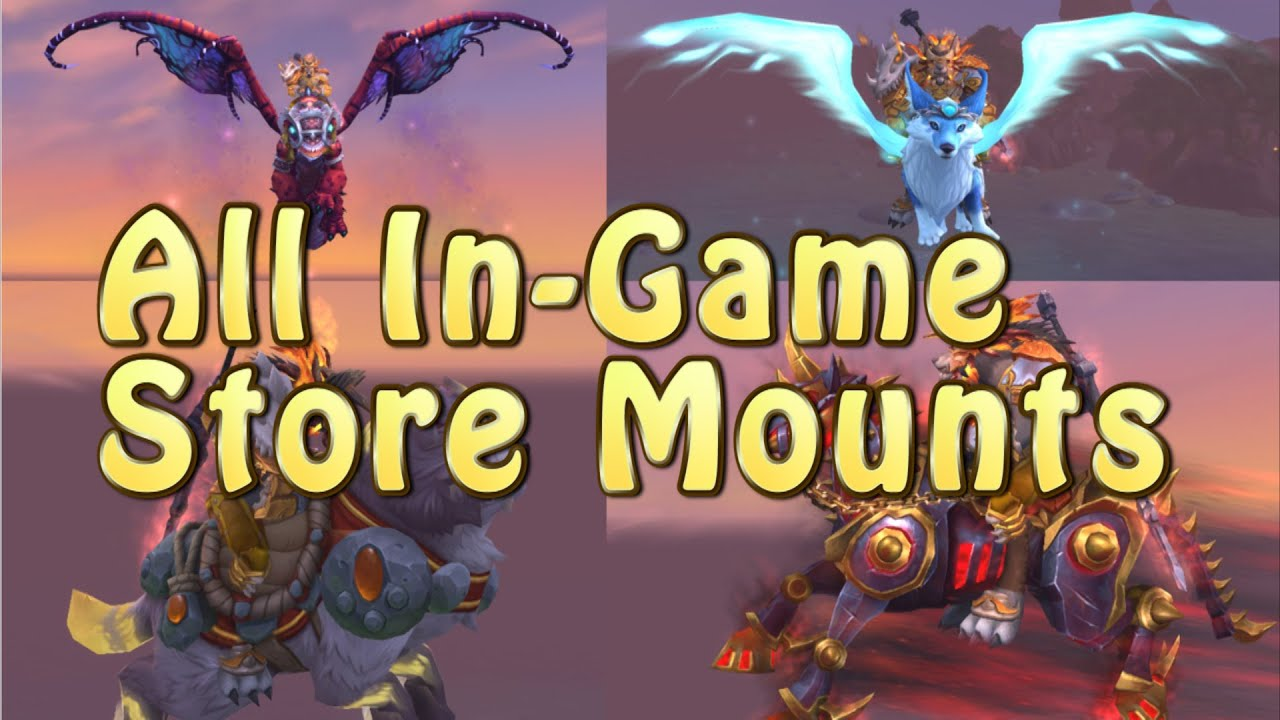 All In-Store Mounts Actual In-Game Animation, Sound Effects and Special  Mount Abilities