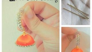 how to make i pin base   earring jhumka at home tutorial