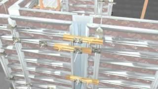 видео Опалубка стеновая