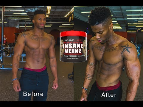 Insane Veins Pre-workout review | Before and After pump Test