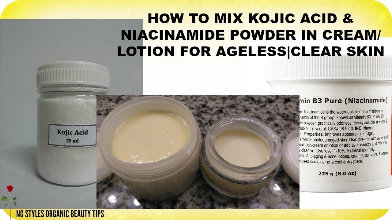 Alpha arbutin and niacinamide cream