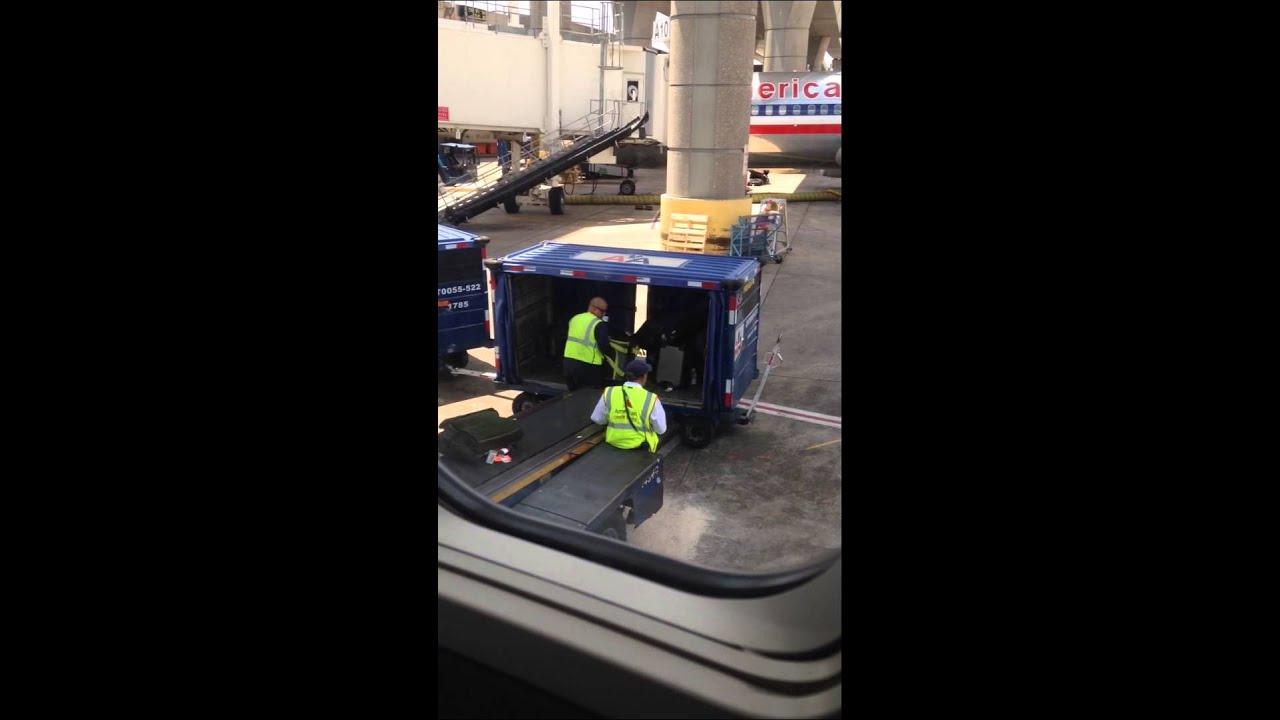 American Airlines Baggage Handler Youtube