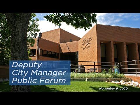 view Deputy City Manager Public Forum 11/9/20 video