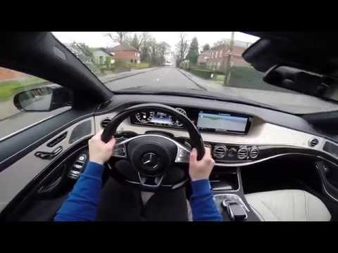 Mercedes S Class S500 L Plug In Hybrid 2014 POV test drive GoPro