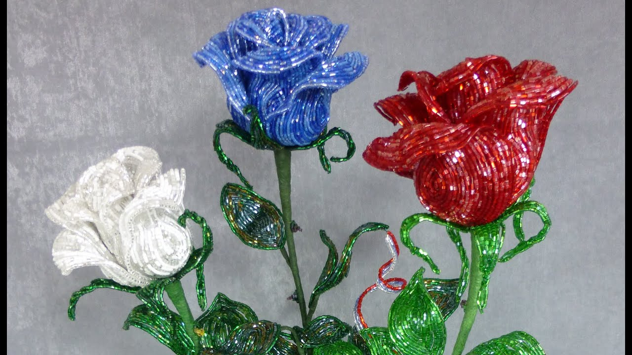 розы из бисера картинки