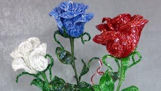 Видеоотчёт №2 - ЧАСТЬ 2: Букет роз из бисера