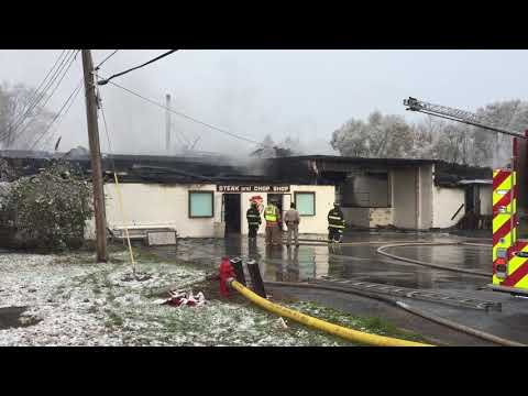Raber Packing Co. still smoldering the morning after big fire