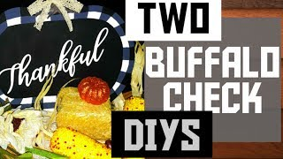 Dollar Tree Diy | 2 Fall Buffalo Check D.I.Y.s | Pumpkin Sign | Decor. Pillows