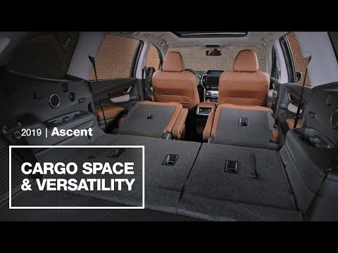 2019 Subaru Ascent Cargo Space and Versatility