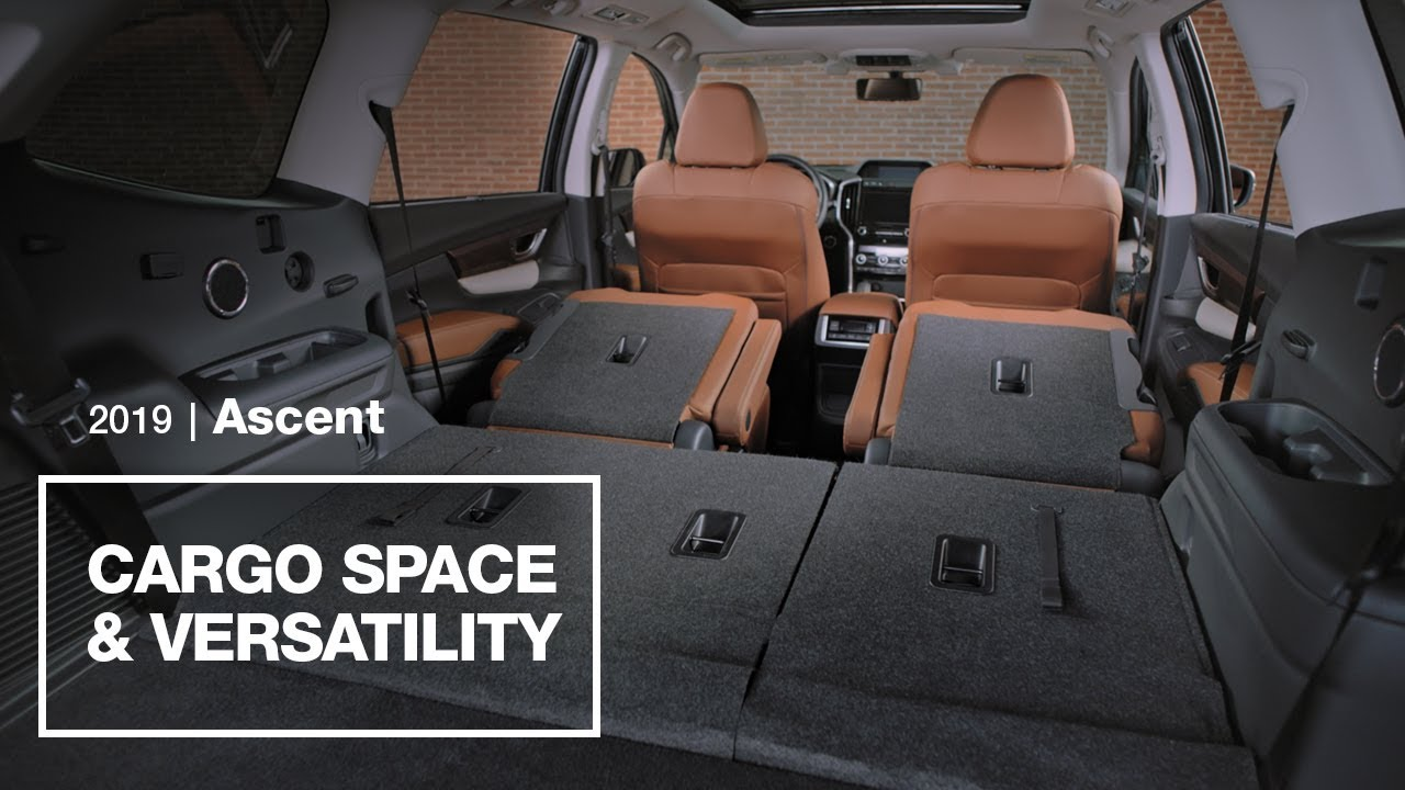 2019 Subaru Ascent Cargo Space and Versatility - YouTube