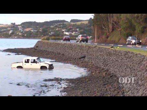 Ute in Otago Harbour