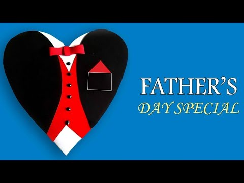 How to make Heart Suit- Tuxedo card/DIY Birthday cards/Beautiful Handmade Father's Day card idea.