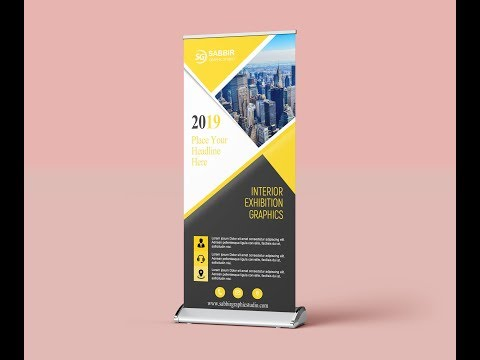 Photoshop Tutorial | Roll Up Banner Design | Roller Banner | Stand Up Banner thumbnail