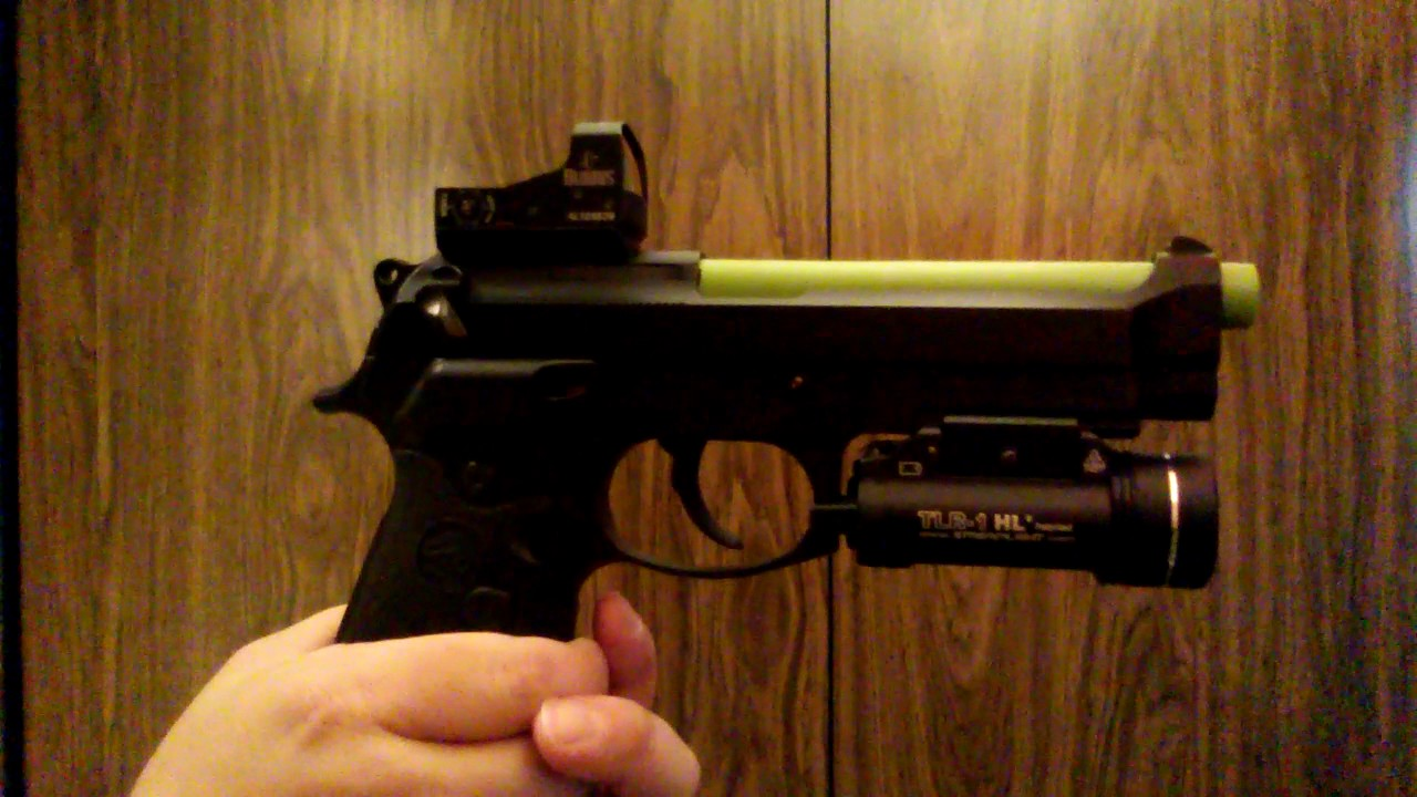 Beretta M9A1 $2000 92FS Customized with RMR Red dot and LaserMax green  laser guide rod