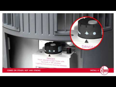 How to relight Rheem Stellar Gas Hot Water  YouTube