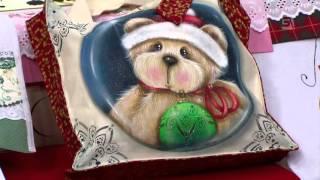 Acrilex - Artesanato - Pintura em tecido - Urso natalino
