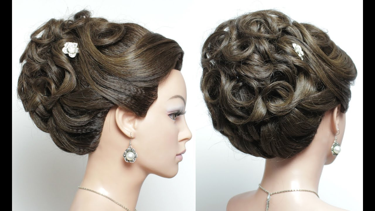 Elegant Bridal Prom Updo. Wedding Hairstyle For Long Hair