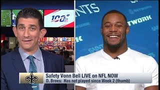 Saints safety Vonn Bell discusses trash-talk exchange with Tarik Cohen