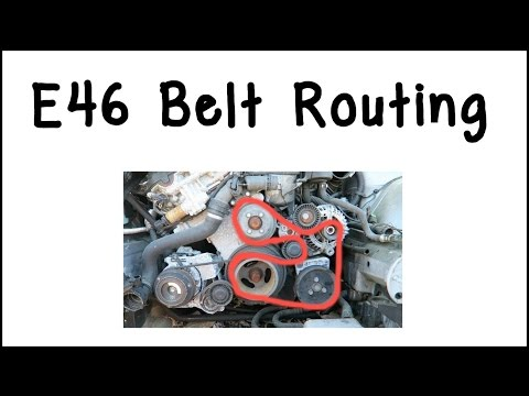 how to route bmw e46 drive belts youtube  03 325i belt diagram #8
