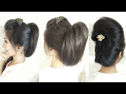 2-most-beautiful-hairstyles-for-party-|-party-updos-for-medium-hair-|-easy-wedding-hairstyles
