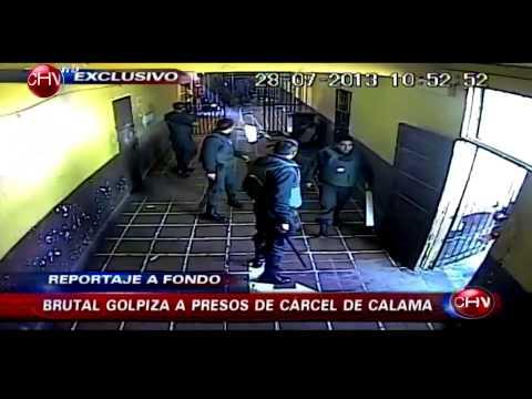 Impactante video muestra como un grupo de gendarmes golpea a los reos en c�rcel de Calama