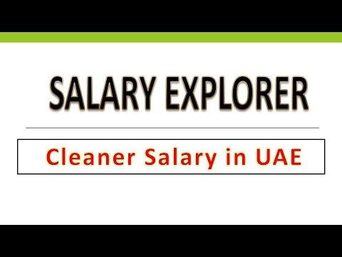 Cleaner Salary in Dubai/UAE