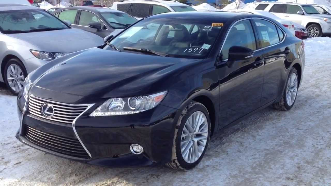 2014 Lexus ES 350 Touring Package Review In Black