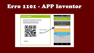 Erro 1101 App Inventor Como resolver