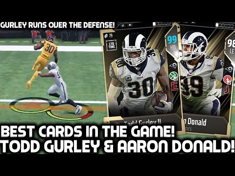HONORS TODD GURLEY RUNS ALL OVER THE DEFENSE! AARON DONALD! Madden 18 Ultimate Team